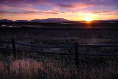 Monte Vista Sunrise (Christopher W Gilbert) Tags: sunrise landscape colorado coloradolandscape fence colors sky clouds fujifilm xt2 leefilters velvia