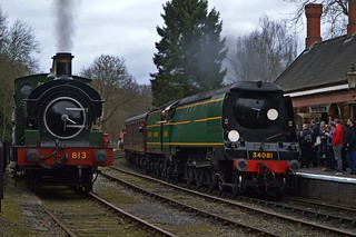 813 and 34081, Highley