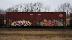 Gash/Suey (quiet-silence) Tags: graffiti graff freight fr8 train railroad railcar art gash suey mf d30 dirty30 dts boxcar bnsf bnsf761037