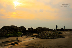 """""""The only thing you sometimes have control over is perspective. You don't have control over your situation. But you have a choice about how you view it.""""- Chris Pine (jamiul_adnan) Tags: people rocks coral sunset shade orange yellow beach bay bengal beautiful bangladesh saarc"""