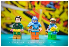 [DC] Forever (| Jonathan |) Tags: lego dc comics the forever people new genesis jack kirbys gods mark moonrider infinity man vykin black mother box ping highfather boom tube superheroes custom minifigures purist figbarf