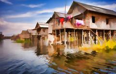 Impression of Inle Lake's floating village