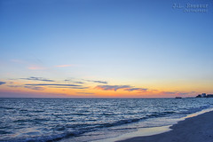 St. Pete Beach Sunset (J.L. Ramsaur Photography) Tags: jlrphotography nikond7200 nikon d7200 photography photo 2016 engineerswithcameras photographyforgod thesouth southernphotography screamofthephotographer ibeauty jlramsaurphotography photograph pic tennesseephotographer florida pinellascountyfl emeraldcoast beach ocean gulfofmexico sand waves alwaysinseason sunshinecity stpete stpetebeach stpetebeachfl hdr worldhdr hdraddicted bracketed photomatix hdrphotomatix hdrvillage hdrworlds hdrimaging hdrrighthererightnow hdrwater sunset sun sunrays sunlight sunglow orange yellow blue bluesky deepbluesky beautifulsky whiteclouds clouds sky skyabove allskyandclouds wherethemapturnsblue ilovethebeach bluewater blueoceanwater sea landscape southernlandscape nature outdoors god'sartwork nature'spaintbrush