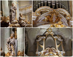 Baroque organ of the Frauenkirche / Church of our Lady in Dresden (Sokleine) Tags: organ orgues baroque montage collage golden doré pipes tuyaux sculptures statues décorarchitectural architecturedetails 18thcentury dresden dresde sachsen saxe saxony deutschland germany allemagne