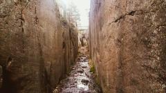 Skam klove,  the Devil's gorge. 3-4m deep. Made by the ice 11000 years ago (Bjorn-Erik Skjoren) Tags: devil gorge ice iceage østfold hvaler geologisamfunnsfag