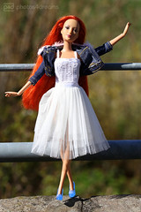 hannah, the denim girl (photos4dreams) Tags: theredheadsp4d barbie doll puppe mattel photos4dreams p4d photos4dreamz red rot readhead long hair lange haare toy dress barbies girl play fashion fashionistas outfit kleider mode hannah