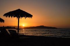summer moods (JoannaRB2009) Tags: summer mood moods nature beach parasol sun sunset sea mediaterranean water island sand people silhouettes kalamaki chania hania xania canea crete kriti kreta greece greek