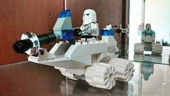 Rebuilt one of my first ever professional sets for the new cabinet:) a nice simple start... #brickyourself #brickmandan #lego. #makeyourselfinlego #lego snow trooper #lego snow trooper mobile