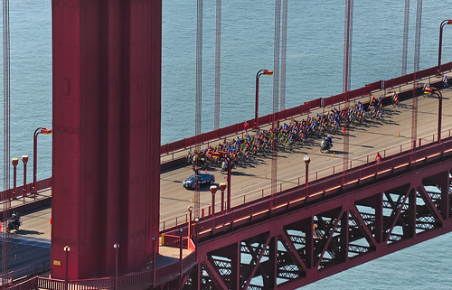 amgen tour of california crosses the golden gate