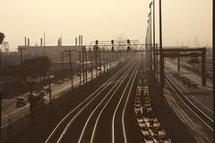 Los Angeles Train Yard (ChristinaPhelps808) Tags: train losangeles industrial traintracks tracks rail