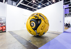 Ichwan Noor (b. 1963): Beetle Sphere, 2013 (Aluminium, polyester, real parts from VW beetle '53, paint) / Art:1 by Mondecor Gallery / Art Basel Hong Kong 2013 / SML.20130523.6D.14135  Explored (See-ming Lee  SML) Tags: china urban sculpture hk art colors yellow vw cn volkswagen photography hongkong crazy aluminum fav50 mixedmedia events fineart beetle photojournalism explore sphere installation creativecommons foundobjects  wtf   hkg journalism aluminium   art1 6d penck  artbasel  canon1740f4l   fav10 fav25 2013  ccby seeminglee canonef1740f4lusm canon6d smlprojects crazyisgood  smlfineart smluniverse canoneos6d smlphotography smlevents flickrstats:views=10000 flickrstats:views=5000 flickrstats:galleries=1 ichwannoor abhk fl2fbp artbaselhongkong2013 mondecorgallery