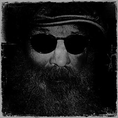 The Basement shots 27 (Akbar Simonse) Tags: bw pet selfportrait blancoynegro me monochrome sunglasses beard zwartwit nederland denhaag shades cap zelfportret selfie zonnebril baard agga basementshot akbarsimonse
