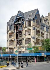 Building under refurbishment, Bronx NYC (Gerald Lau) Tags: nyc newyorkcity newyork construction nikon bronx grandconcourse d7000 e144thst