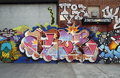(Into Space!) Tags: street city newyorkcity urban newyork art brooklyn graffiti photo production piece legal aroe dethkult intospace tvee dklt aroe77 intospaces