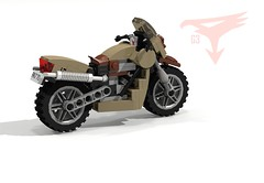 G3 Civilian Motorcycle - Battle of the Planets - 1978 (Gatchaman 1972- Japan) (lego911) Tags: auto phoenix model lego princess render motorbike motorcycle gforce g3 challenge cad battleoftheplanets lugnuts povray moc ldd miniland abakersdozen lego911