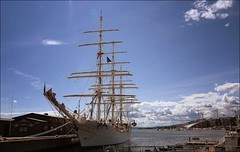 Oslo harbour - Christian Radich (JRJ.) Tags: travel oslo norway seascapes akerbrygge tjuvholmen oslofjorden