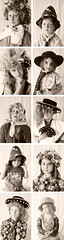 kid's dress-up photo-booth (imaginary animal) Tags: portrait blackandwhite sepia kids photography photobooth play dressup