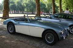 1957 AUSTIN HEALEY 100-6 (shagracer) Tags: austin healey 3000 british classic sports car cars vehicle big healeys 100 1006 6 queen square bristol meet adc breakfast club avenue drivers