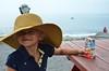 Violet At The Lobster Shack (Joe Shlabotnik) Tags: hat violet capeelizabeth faved 2013 justviolet july2013