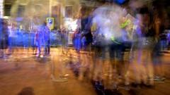 Dancing the night away (Art Rock (Hennie)) Tags: netherlands night dancing away multiple kampen explored artrock2006 hennieschaper uitdag canonixus115hs vanheutzplein