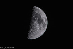 the moon (faisal almoammar) Tags: moon nice nikon zoom       150500mm sigma150500mm  flickrandroidapp:filter=none nikon7100
