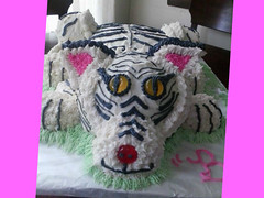 Cat cake by Jaime from Battle Creek Michigan, www.birthdaycakes4free.com