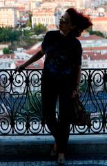 Lisboa a musa de Amelie (miza monteiro) Tags: banco miradouro