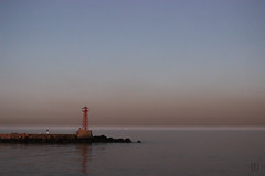 Peace in solitude (skwadrat) Tags: sunset sea uruguay lonely montevideo beacon