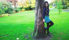 Green and blue (Natbees_Fashion) Tags: park blue green fashion scotland edinburgh stripes blogger