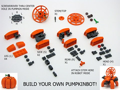 Build Your Own Pumpkinbot (cmaddison) Tags: pumpkin robot lego instructions mecha bot mech pumpkinbot vision:outdoor=0881