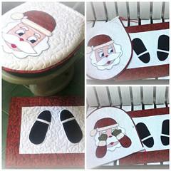Jg. BaNhEiRo NoEL (DoNa BoRbOlEtA. pAtCh) Tags: natal handmade noel application patchwork aplicao quiltlivre jogodebanheiro donaborboletapatchwork denyfonseca