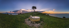 Duder Regional Park (Nick Twyford) Tags: sunset newzealand panorama tree clouds nikon pano wideangle auckland northisland maraetai eastcoast clevedon rrs leefilters 1024mm duderregionalpark d7000 lee06gndsoft phottixgeoone nodalslide
