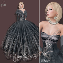 Royal Queen Turbulence Poster (http://www.purplemoonsl.com) Tags: fashion dress princess formal royal queen sl secondlife ballroom gown satin pm purplemoon pouletkoenkamp