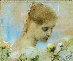 Eugenio Prati Primavera 1895 pastello ad olio su pergamena 36 x 43 cm Collezione privata