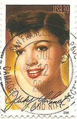 USA stamp - Judy Garland (sftrajan) Tags: usa unitedstates stamps stamp singer entertainer wizardofoz timbre postagestamp philately judygarland sello overtherainbow briefmarke  francobollo  meetmeinstlouis