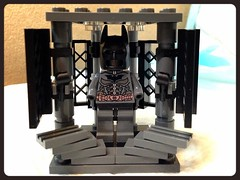 Batman armory movie scene Lego Moc (GantzGuru) Tags: dark movie stand lego cabinet suit armor batman joker knight armory base moc uploaded:by=flickrmobile flickriosapp:filter=nofilter