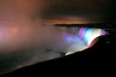 Niagara Falls, Winter (wooobear) Tags: nightphotography canada colors niagara falls