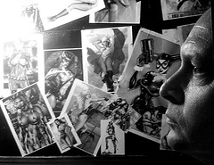 Comic 365 Days (Year 8) #075 01/14 (randeclip) Tags: bw white black art me wall illustration club self myself comic drawing group daily days 365 portrate yearly