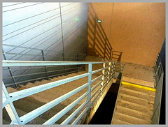 (Jean-Luc Lopoldi) Tags: shadow stairs dessin ombre crayon banister escalier downwards rampe