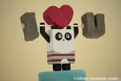I LOVE YOU ---Panda----Handmade,Handcrafted wood panda doll (charles fukuyama) Tags: love stone wooden panda you handmade handpainted handcrafted caketopper artdoll lovely homedeco valentinesday cakedecoration i modernhomedecor woodpendant dollsandminiatures animalscaketopper pandacaketopper ooakother kikuike