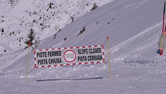 Danger - Slopes Closed (Ginas Pics) Tags: winter white snow france alps europe closed skiing safety slopes frenchalps wintersports ginaspics europeanalps