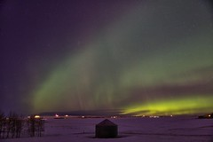 Glorious Evening 2 (John Andersen (JPAndersen images)) Tags: longexposure winter red snow green calgary purple alberta aurora airdrie canon6d