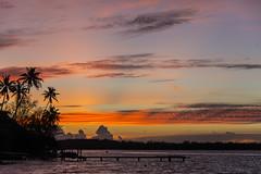 Bora Bora Sunset (JGRogers) Tags: sunset weather cloudy lagoon tahiti brando marlon bungalow borabora frenchpolynesia