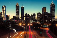 Atlanta Skyline Cold Sky (tmac0381) Tags: city atlanta night lights downtown overpass lighttrails atlantaskyline favorited jacksonstreetbridge nauticaltwilight astronomicaltwilight