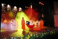 El Conjunto Maucó interpretando el cuadro Homenaje al Cincuentenario de la Refinería de ENAP, Concón, V Región. Teatro Municipal de Viña del Mar, jueves 10 de noviembre de 2005.