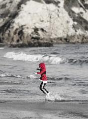 boy playing in water (spgomavs41@sbcglobal.net) Tags: county orange beach nature birds canon bay coast little crescent corona newport laguna oc