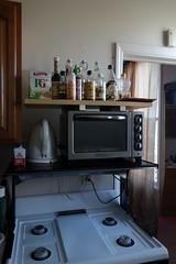minor home improvements (nicknormal) Tags: kitchen pepper bottles shelf kettle stove nectar vinegar oliveoil hob kitchenaid amino sriracha pgtips applecidervinegar agavenectar