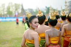 Thailand, March 2014 (Benjamin Ettinger travel photography) Tags: street travel portrait girl beauty fashion thailand 50mm nikon dress f14 traditional d600