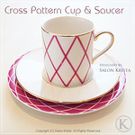 "Cross Pattern Cup & Saucer <a style=""margin-left:10px; font-size:0.8em;"" href=""http://www.flickr.com/photos/94066595@N05/13690943284/"" target=""_blank"">@flickr</a>"