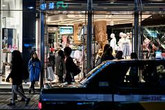 never try to talk to... (sinkdd) Tags: street girl japan tokyo nikon shinjuku 85mm nikkor topman d800 waitng streetsnap nikond800 f18g afsnikkor85mmf18g